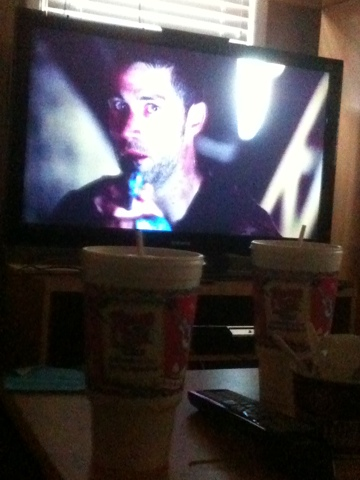 lost on tv screen two sodas